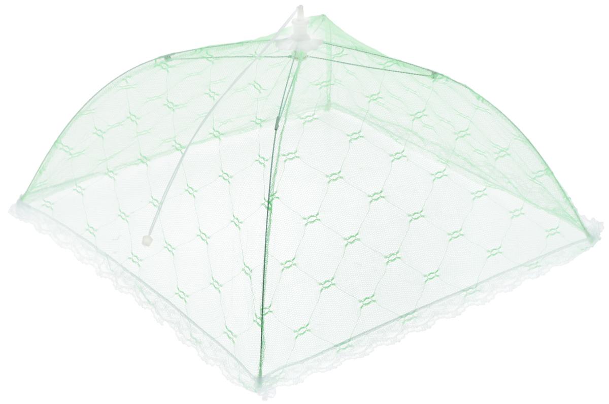 Зонт для продуктов Мультидом, цвет: зеленый, белый, 35 х 35 х 20 смFY84-15_зеленый, белыйЗонт для продуктов Мультидом изготовлен из полиэстеровой сетки с каркасом из пластика и металла. Изделие выполнено в виде квадратного купола, который легко собирается и разбирается. Таким зонтом очень удобно пользоваться на природе, он защитит ваши продукты от назойливых насекомых. Размер (в собранном виде): 35 х 35 х 20 см. Длина зонта (в сложенном виде): 33 см.