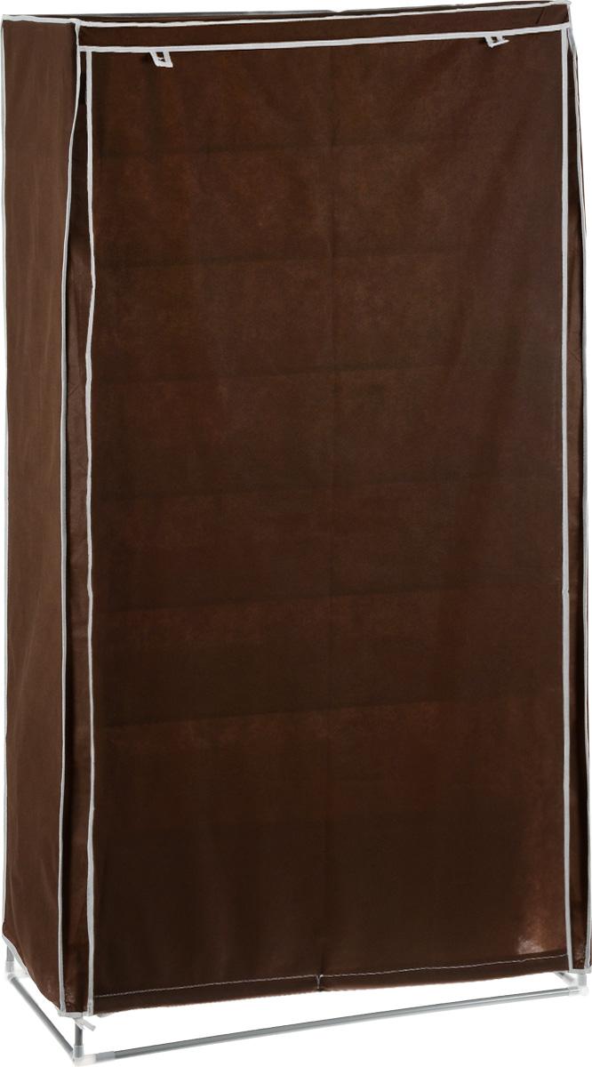 Гардероб для хранения одежды Miolla, цвет: коричневый, белый, 87 х 46 х 175 см2507051U_коричневыйГардероб Miolla - это идеальное решение для хранения одежды, обуви и аксессуаров. Само изделие выполнено из полиэстера, а каркас - из прочного металла, благодаря чему изделие не деформируется и отлично сохраняет форму. Кофр имеет 6 полок, внизу расположен ящик, в котором можно хранить обувь. Сбоку имеется 12 карманов, в которых можно хранить мелочи. Такой гардероб поможет с легкостью организовать пространство в шкафу или гардеробе.