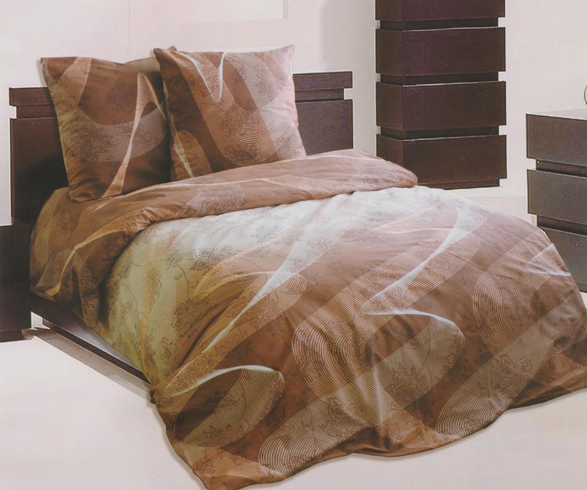 Комплект белья Катюша Люкс, 1,5-спальный, наволочки 70х70, цвет: коричневый, белый, персиковыйC-129/4244Роскошный комплект белья Катюша Люкс, выполненный из бязи (100% натурального хлопка), состоит из пододеяльника, простыни и двух наволочек. Постельное белье оформлено оригинальным принтом, а также обладает яркостью и сочностью цвета. Бязь - это ткань полотняного переплетения, изготовленная из экологически чистого и натурального 100% хлопка. Она приятная на ощупь, при этом очень прочная, хорошо сохраняет форму и легко гладится. Ткань прекрасно пропускает воздух и за ней легко ухаживать. Приобретая комплект постельного белья Катюша Люкс, вы можете быть уверенны в том, что покупка доставит вам и вашим близким удовольствие и подарит максимальный комфорт.