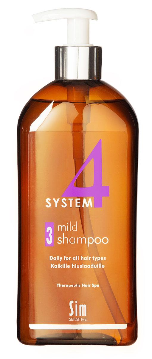 SIM SENSITIVE Терапевтический шампунь №3 SYSTEM 4 Mild Climbazole Shampoo 3 , 500 мл5313КАК РАБОТАЕТ: шампунь рекомендуется для чувствительной кожи головы. Сали- циловая кислота мягко очищает, климбазол и пироктон оламин восстанавливают микрофлору кожи головы. Гидрогенол снимает раздражение, увлажняет и защищает волосы от воздействия уль- трафиолетовых лучей. Ментол и розмарин способствуют улучше- нию питания волосяного фолликула за счет своих стимулирующих и дезинфицирующих свойств. рН-4,7. Успокаивает кожу головы после окрашивания. БОРЕТСЯ С: раздражениемкожи головы и с элементами перхоти с чувствительностью кожи головы рецедивами после курса лечения волос и кожи головы