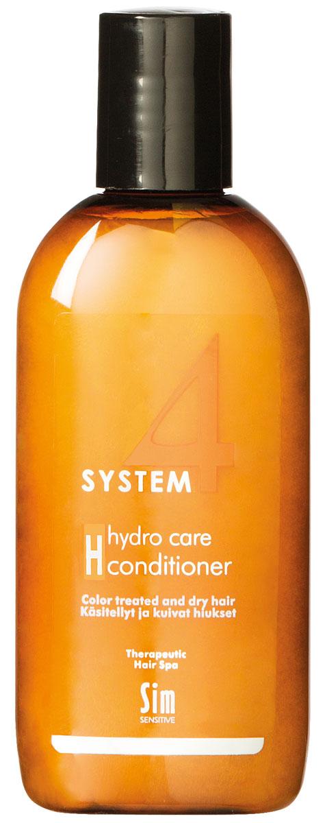 Sim Sensitive Терапевтический бальзам H SYSTEM 4 Hydro Care Conditioner Н, 100 мл5417КАК РАБОТАЕТ: комплекс пшеничных и растительных протеинов питает волосы и насыщает влагой сухие и поврежденные волосы. Климбазол и пироктон оламин усиливают и подкрепляют действие терапевтических шампуней «Систем 4». Бальзам улучшает структуру волоса, придает послушность и шелковистость. БОРЕТСЯ С: сухостью волос, непослушностью, спутыванием волос расслоением стержня волоса поврежденностью и стрессом волос после окрашивания, химической обработки, частого воздействия горячих температур (фен, утюжки)