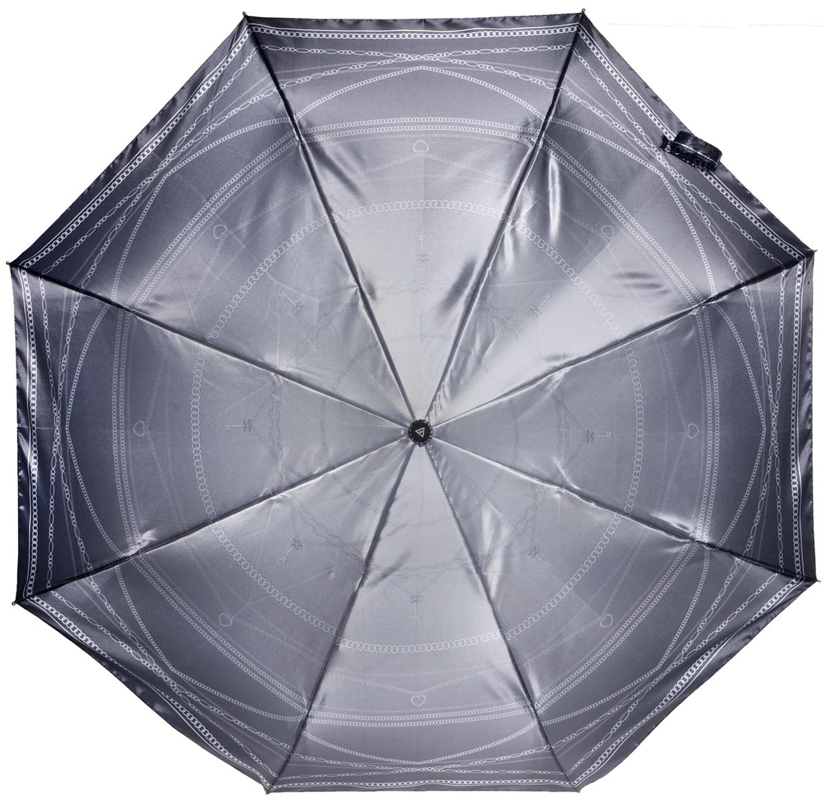 Зонт женский Fabretti, автомат, 3 сложения, цвет: серый. L-16106-15L-16106-15Зонт женский Fabretti, облегченный суперавтомат, 3 сложения