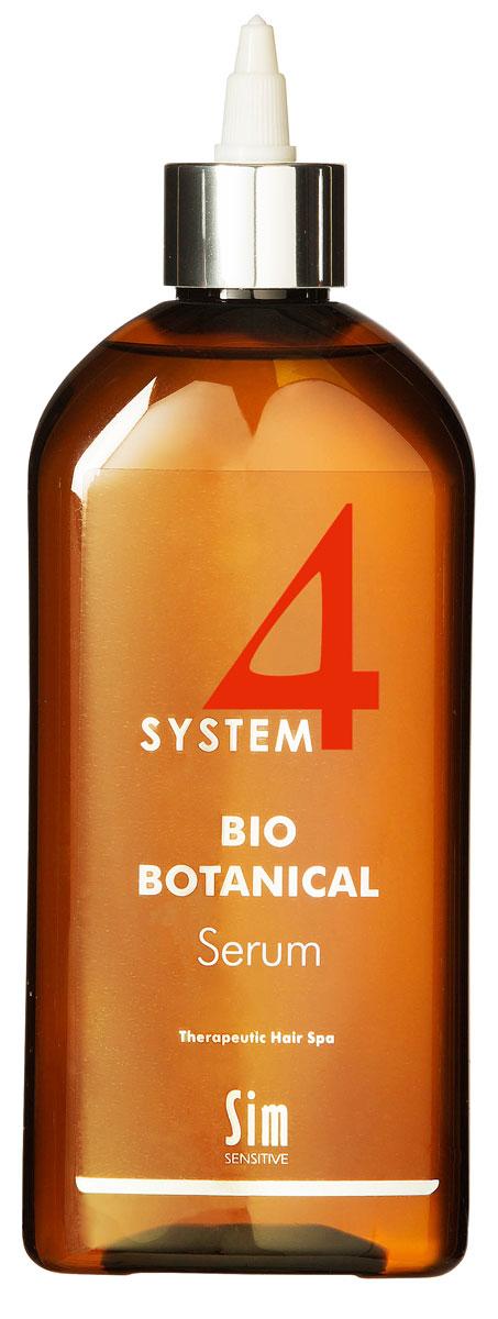 SIM SENSITIVE Био Ботаническая Сыворотка SYSTEM 4 Bio Botanical Serum, 500 мл5326КАК РАБОТАЕТ: сыворотка – главный и наиболее сильный препарат в комплексе за счет входящих в состав растительных экстрактов репейника, настурции, крапивы, розмарина, а также комплекса витаминов C, E, PP, B6. Стимулирует активное деление клеток волосяных фолликул и утолщение волос.