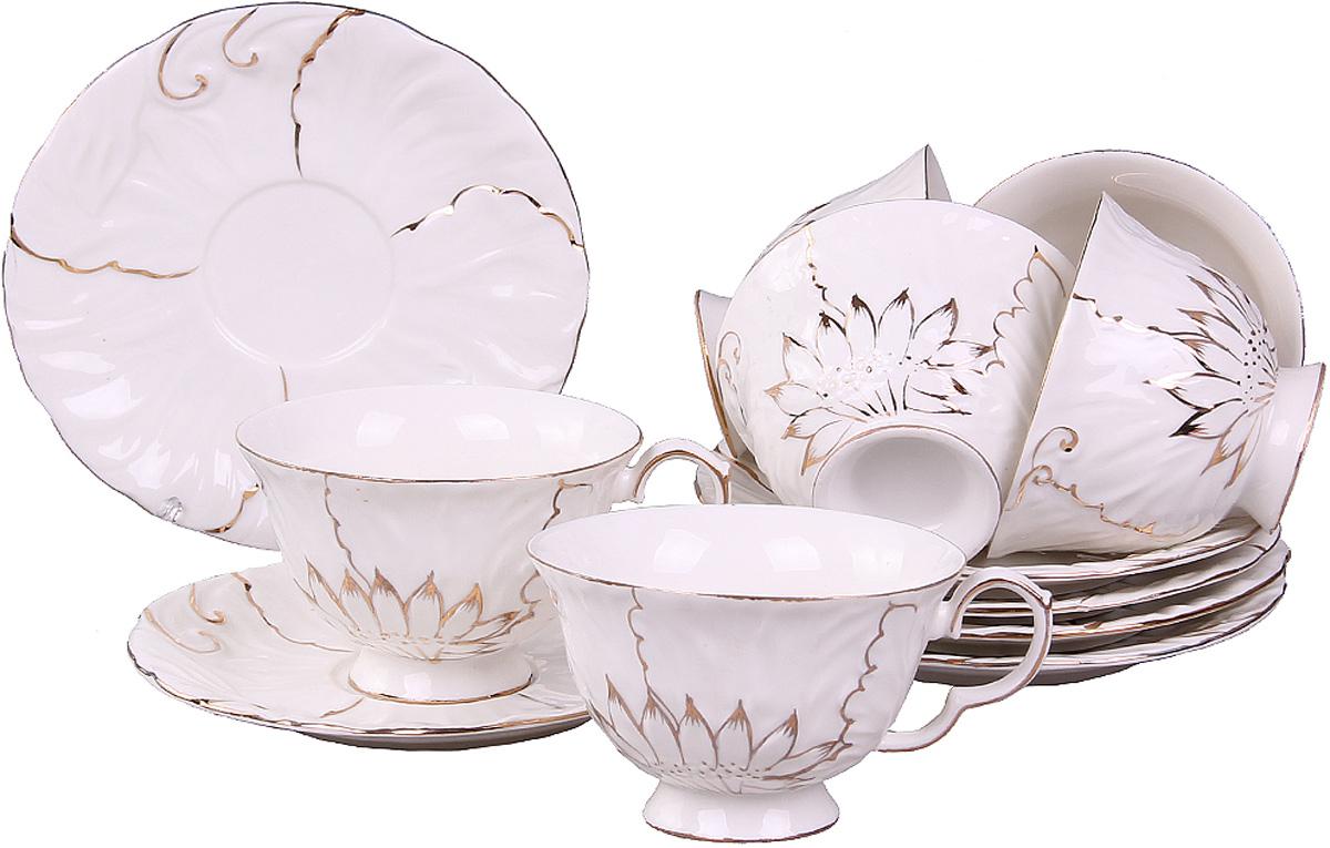 Чайный сервиз Patricia, 12 предметов. IM04-0003IM04-0003Цейлонский черный, зеленый с жасмином, травяной или ягодный - неважно. Любой чай в чайном наборе 12 предметов станет для вас наслаждением, поводом отдохнуть и перевести дыхание. Украшение золотом и удивительная белизна этого набора обратят на себя внимание самого привередливого гостя. Высокое качество фарфора позволит распробовать напиток во всем его многообразии.