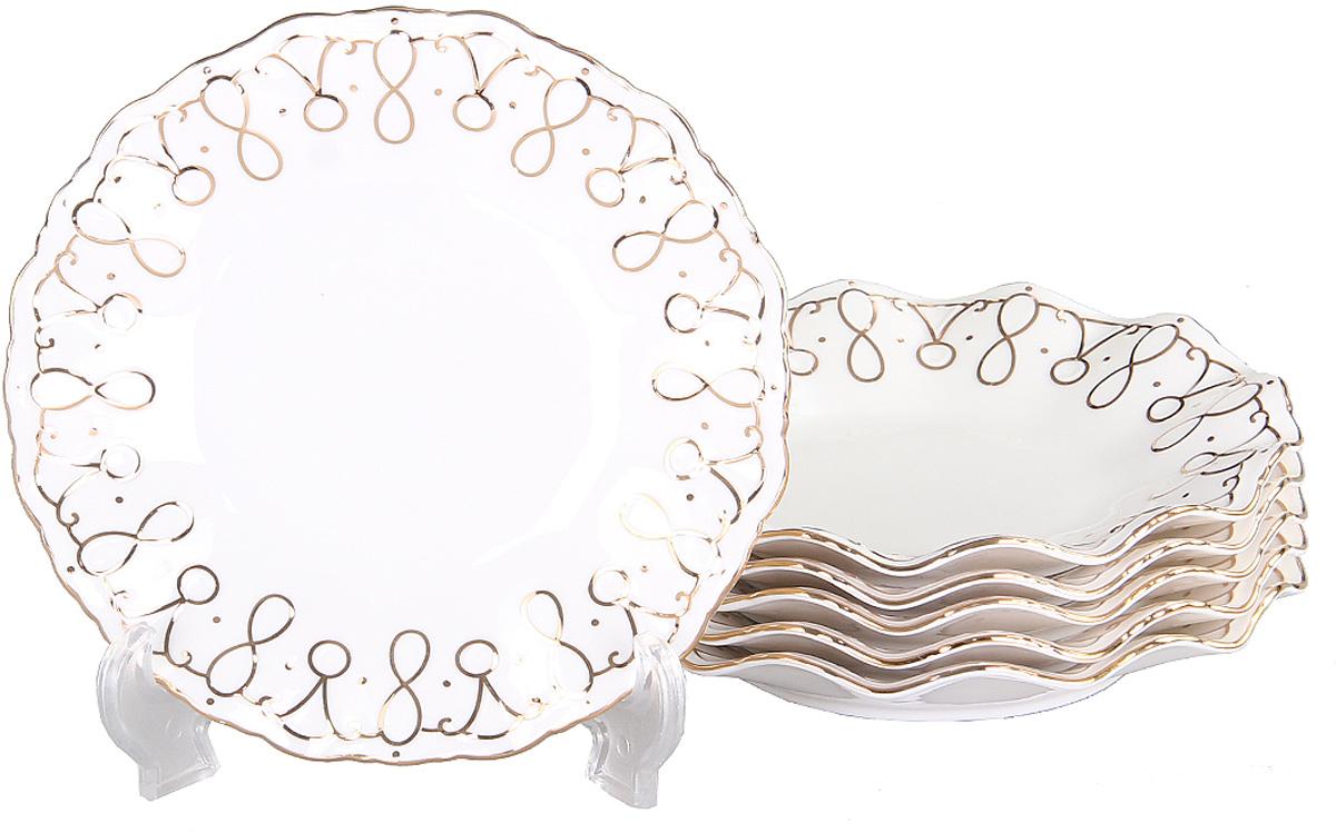 Тарелка десертная Patricia, диаметр 19 см, 6 шт. IM10519-7IM10519-7Вы любите баловать десертами не только себя, но и гостей? Набор десертных тарелок станет достойным украшением свежеприготовленного пирожного, выпечки, кусочка вашего фирменного торта или другого десерта. Благодаря безукоризненному дизайну и качеству эти тарелки прослужат вам много лет, напоминая о каждом кусочке любимого лакомства.