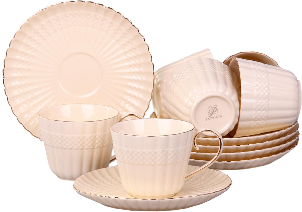 Чайный сервиз Patricia, 12 предметов. IM52-4000IM52-4000Чайный набор выполнен из фарфора высшего качества,украшен ярким узором. Этот набор обязательно впишется в любой уголок вашей кухни и станет стильным дополнением к ней.