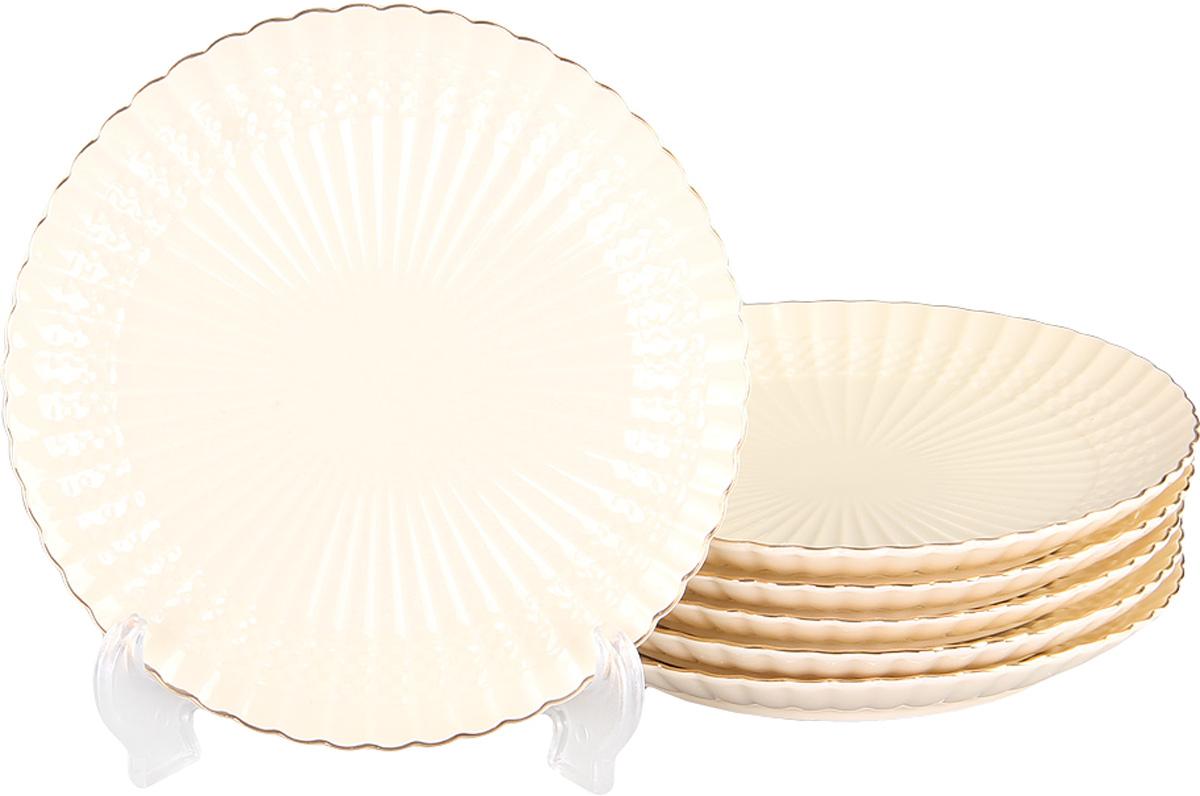 Тарелка десертная Patricia, диаметр 19 см, 6 шт. IM52-4012IM52-4012Вы любите баловать десертами не только себя, но и гостей? Набор десертных тарелок станет достойным украшением свежеприготовленного пирожного, выпечки, кусочка вашего фирменного торта или другого десерта. Благодаря безукоризненному дизайну и качеству эти тарелки прослужат вам много лет, напоминая о каждом кусочке любимого лакомства.