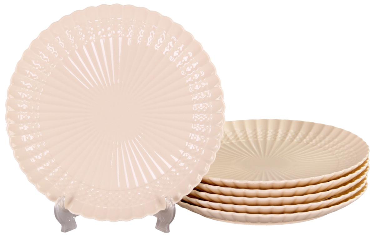 Тарелка обеденная Patricia, диаметр 26 см,6 шт. IM52-4110IM52-4110Набор состоит из шести обеденных тарелок диаметром 26 см. Все изделия выполнены из фарфора высокого качества.