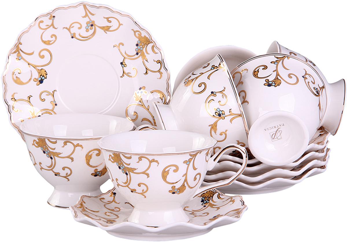 Чайный сервиз Patricia, 12 предметов. IM52-4200IM52-4200Чайный набор выполнен из фарфора высшего качества,украшен ярким узором. Этот набор обязательно впишется в любой уголок вашей кухни и станет стильным дополнением к ней.