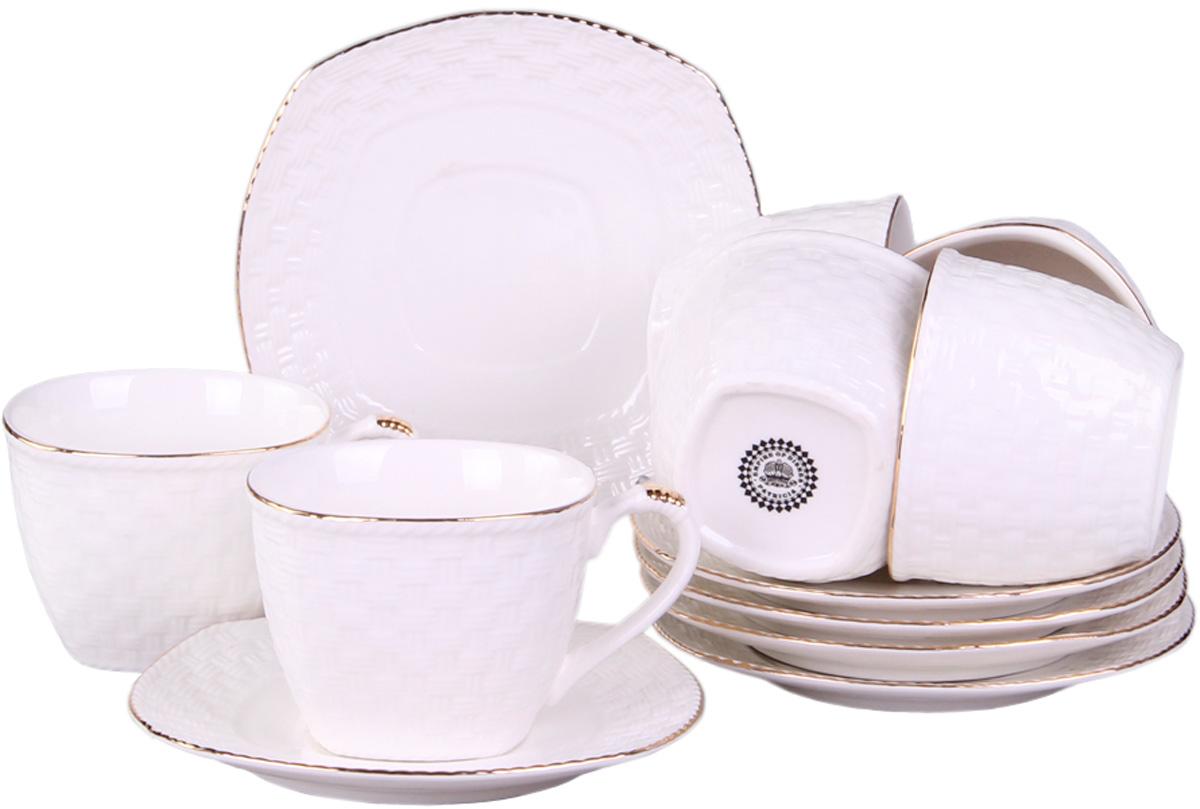 Чайный сервиз Patricia, 12 предметов. IM553036IM553036Набор включает в себя 12 предметов: 6 чашек(220 мл.) и 6 блюдец. Изделия выполнены из фарфора безупречной белизны. Чашки и блюдца украшены золотым декором. Набор имеет подарочную упаковку. Внимание! Изделия нельзя использовать в посудомоечной машине.