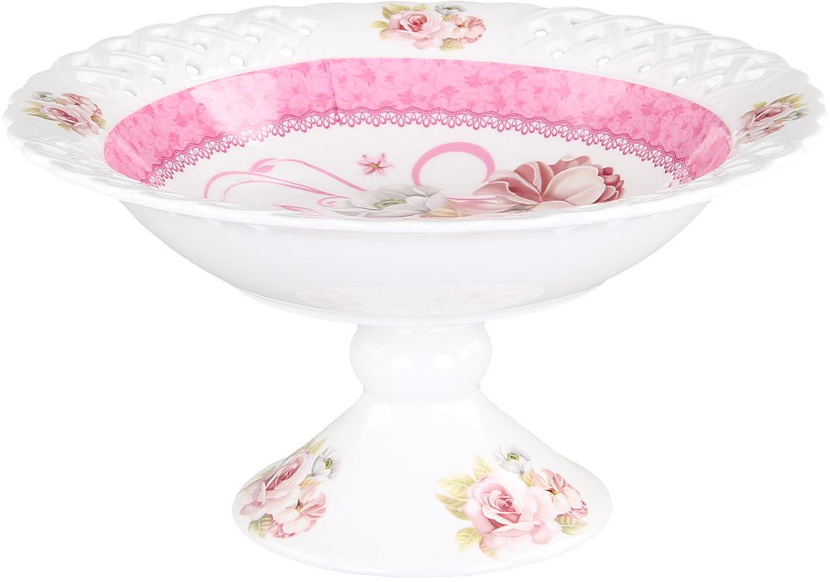 Конфетница Patricia, диаметр 30 см. IM56-0121IM56-0121Конфетница выполнена из фарфора. Изделие имеет сложную форму напоминающую распустившийся бутон цветка. Дно изделия украшена цветочным декором.