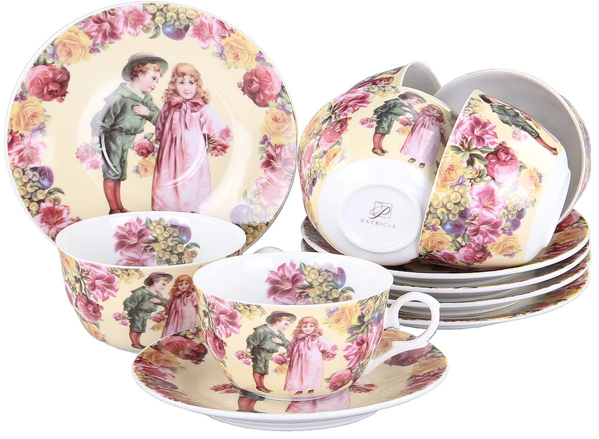 Чайный сервиз Patricia, 12 предметов. IM56-0822IM56-0822Чайный набор выполнен из фарфора высшего качества,украшен ярким узором. Этот набор обязательно впишется в любой уголок вашей кухни и станет стильным дополнением к ней.