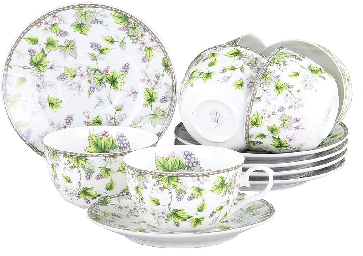 Чайный сервиз Patricia, 12 предметов. IM56-0922IM56-0922Чайный набор выполнен из фарфора высшего качества,украшен ярким цветочным узором. Этот набор обязательно впишется в любой уголок вашей кухни и станет стильным дополнением к ней.
