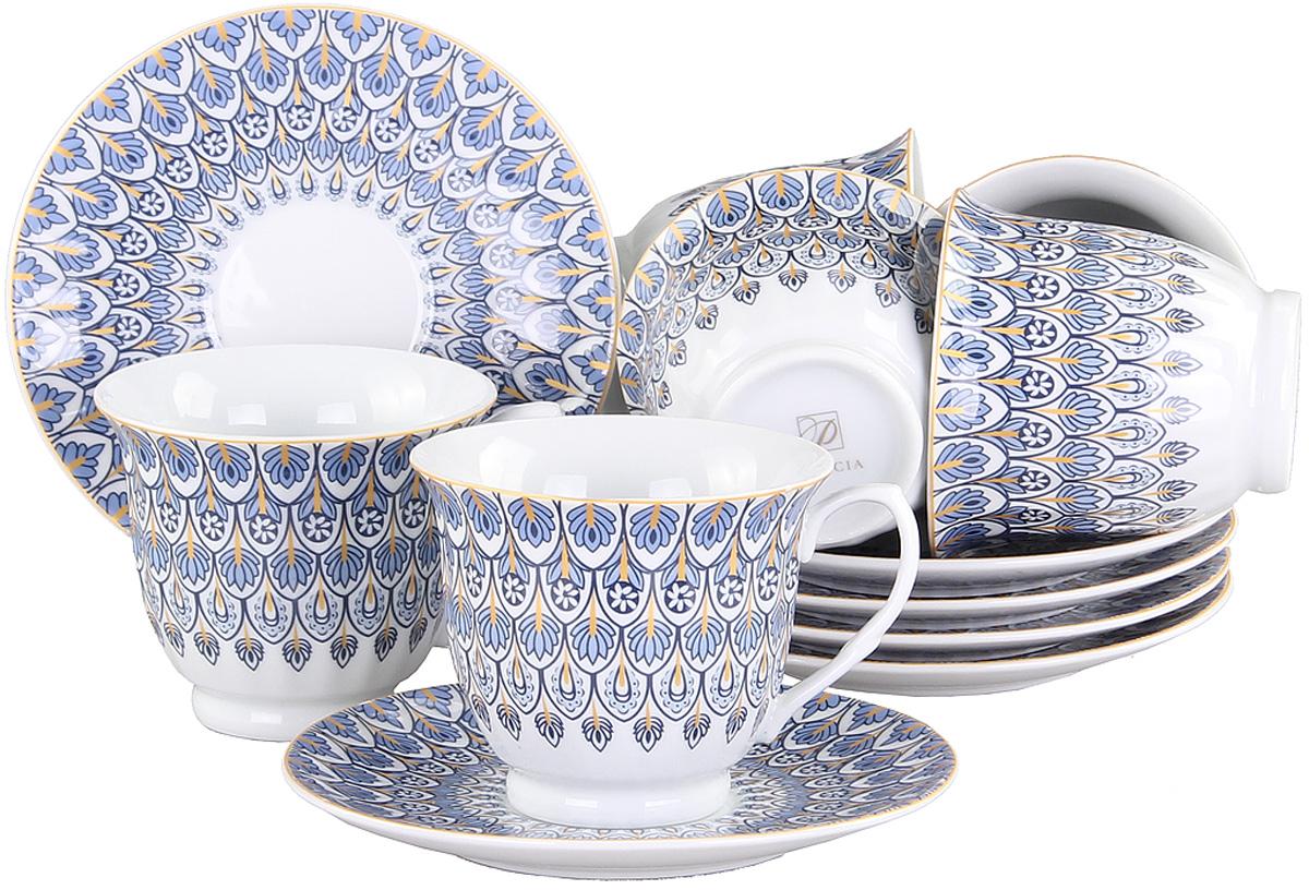 Чайный сервиз Patricia, 12 предметов. IM56-1322IM56-1322Чайный набор выполнен из фарфора высшего качества,украшен ярким цветочным узором. Этот набор обязательно впишется в любой уголок вашей кухни и станет стильным дополнением к ней.