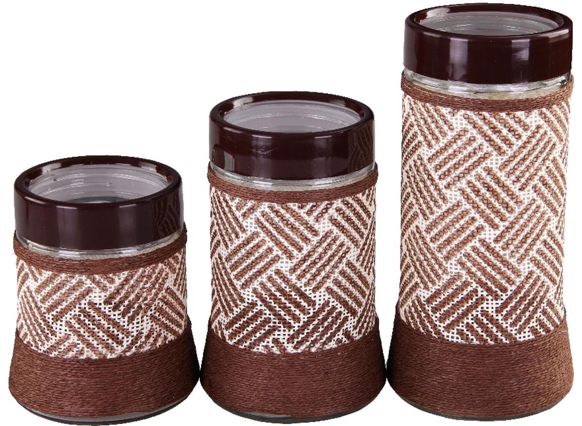 Набор банок Patricia, 3 предмета. IM99-3915IM99-3915Набор для сыпучих продуктов включает в себя 3 банки различных размеров. Плотно закручивающая крышка на банке позволит хранить чай,кофе и многие другие сыпучие продукты. А дизайн таких банок украсит кухню любой хозяйки.
