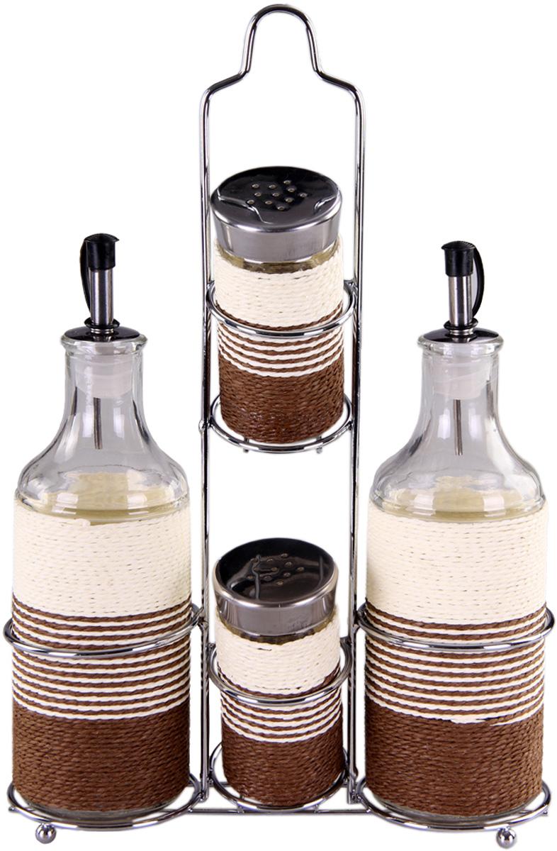 Набор для специй Patricia, 4 предмета. IM99-3921IM99-3921Набор для специй на металлической подставке выполнен из стекла и плети. В них можно хранить как соль или сахар, так и различные специи.