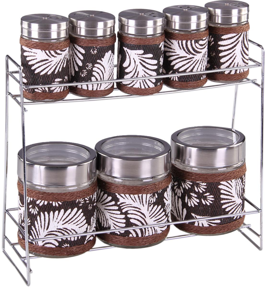 Набор банок Patricia, 8 предметов. IM99-3925IM99-3925Набор для сыпучих продуктов включает в себя 8 банок различных размеров. Плотно закручивающая крышка на банке позволит хранить чай,кофе и многие другие сыпучие продукты. В свою очерень набор солонок, входящий в комплект, позволит хранить специи должным образом. Дизайн таких банок украсит кухню любой хозяйки.