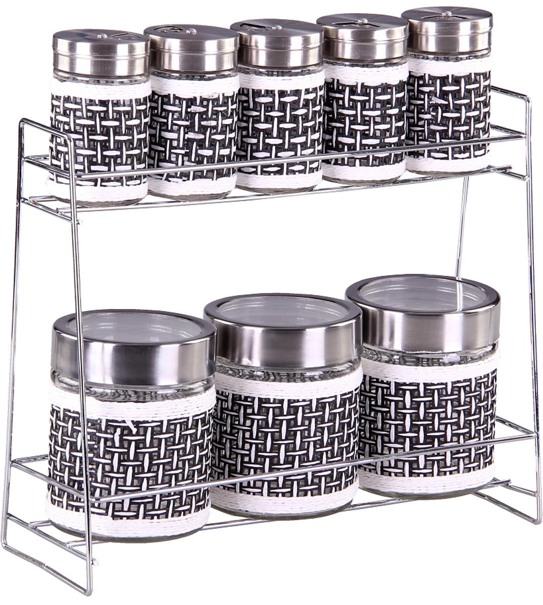 Набор банок Patricia, 8 предметов. IM99-3926IM99-3926Набор для сыпучих продуктов включает в себя 7 банок различных размеров. Плотно закручивающая крышка на банке позволит хранить чай,кофе и многие другие сыпучие продукты. В свою очерень набор солонок, входящий в комплект, позволит хранить специи должным образом. Дизайн таких банок украсит кухню любой хозяйки.