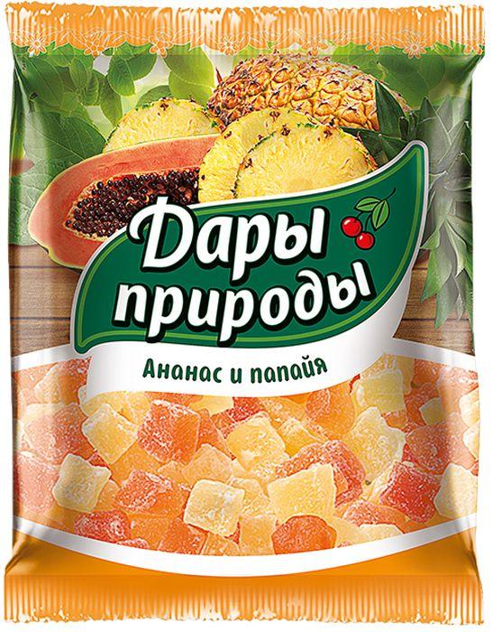 Дары Природы цукаты ананас и папайя сушеные, 150 г