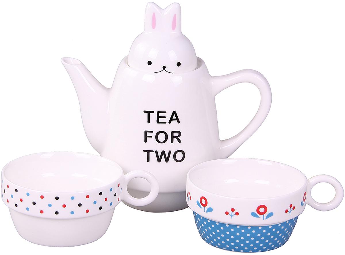 Набор Patricia: чайник, 2 чашки, 500 мл. IM99-0545/4IM99-0545/4Набор выполнен из керамики высокого качества. Он состоит из чайника и 2-х чашек. Такой набор станет прекрасным дополнением любого стола.