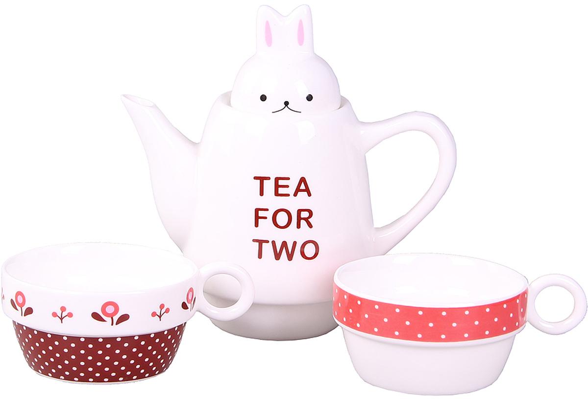 Набор Patricia: чайник, 2 чашки, 500 мл. IM99-0545/1IM99-0545/1Набор выполнен из керамики высокого качества. Он состоит из чайника и 2-х чашек. Такой набор станет прекрасным дополнением любого стола.