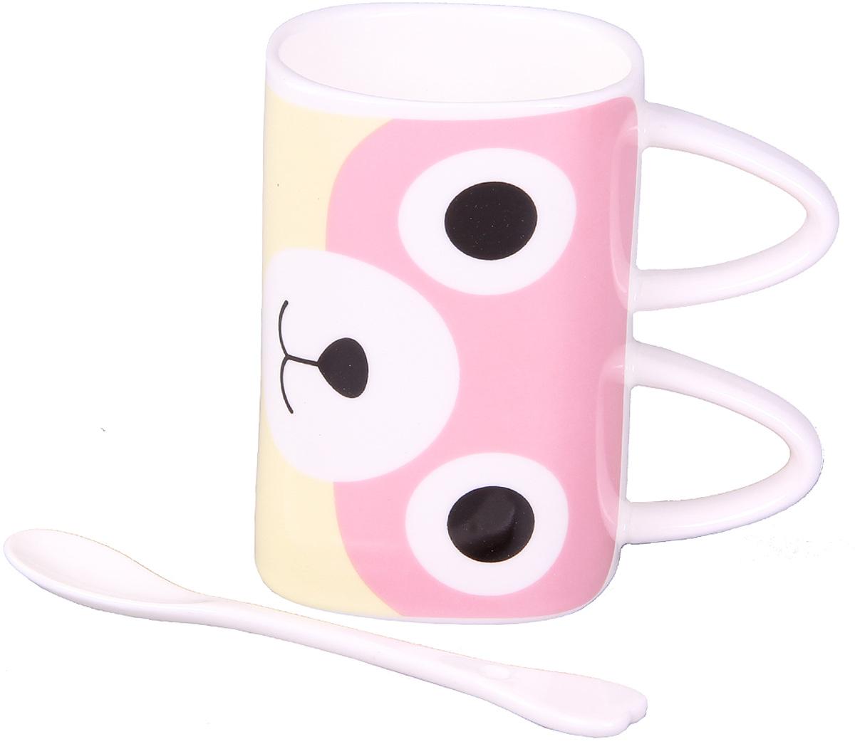 Кружка Patricia, с ложкой, 350 мл. IM99-0539/4IM99-0539/4Кружка выполнена из керамики высокого качества. Прекрасный подарок - ложка, поможет вам с легкостью размешать любимый напиток