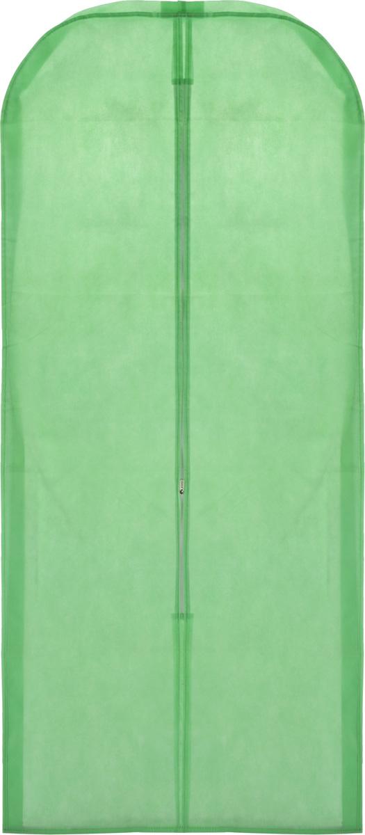 Чехол для одежды Eva, объемный, цвет: салатовый, 140 х 65 х 10 смЕ26_салатовыйОбъемный чехол для одежды Eva изготовлен из высококачественного нетканого материала. Особое строение полотна создает естественную вентиляцию: материал пропускает воздух, что позволяет изделиям дышать. Чехол очень удобен в использовании. Благодаря наличию боковой вставки, изделие увеличивается в объеме, что позволяет хранить крупные объемные вещи. Это особенно необходимо для меховой, кожаной и шерстяной одежды. Чехол легко открывается и закрывается застежкой-молнией. Чехол для одежды Eva создаст уютную атмосферу в женском гардеробе. Лаконичный дизайн придется по вкусу ценительницам эстетичного хранения.