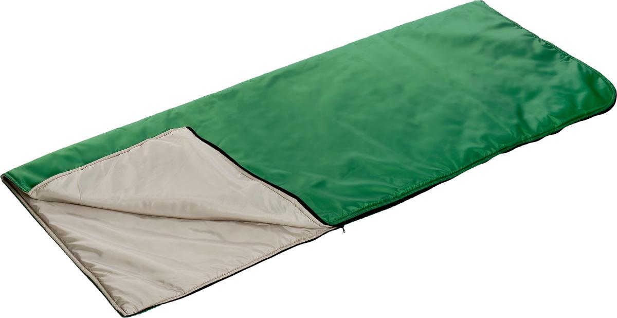 Мешок спальный Onlitop, правосторонняя молния, цвет: зеленый, 185 х 70 см1313769_зеленыйТрехсезонный спальник-одеяло Onlitop, выполненный из таффета с наполнителем из синтепона, предназначен для походов и для отдыха на природе не только в летнее время, но и в прохладные дни весенне-осеннего периода. В теплое время спальный мешок можно использовать как одеяло (в том числе и дома). Спальник-одеяло Onlitop станет незаменимым аксессуаром для любителей туризма, рыболовов и охотников. Одеяло упаковано с текстильный чехол с ручкой.