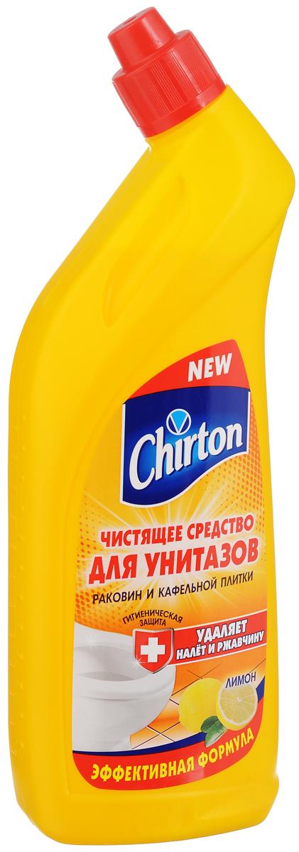 Чистящее средство для унитазов Chirton Лимон, 750 мл44692/4-0504Chirton Лимон - это эффективная формула для чистки фарфоровых и фаянсовых унитазов, раковин и кафельной плитки от ржавчины, известкового налета и других загрязнений. Обладает густой консистенцией и приятным ароматом. Особая конфигурация флакона позволяет производить обработку в самых труднодоступных местах. Экономичен в употреблении. Товар сертифицирован.
