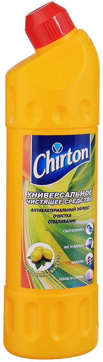 Средство чистящее Chirton Лимонная свежесть, универсальное, 750 мл44449/4-0507Универсальное чистящее средство Chirton Лимонная свежесть быстро и эффективно очищает от различных загрязнений раковины, ванны, унитазы, душевые кабины, керамическую плитку, любые твердые моющиеся напольные и настенные покрытия, кухонные плиты и другую бытовую технику. Обладает антибактериальным действием надолго обеззараживая обработанные поверхности. Отбеливает поверхности, устраняя серый налет, известковые отложения, мыльные потеки, плесень, жир и другие загрязнения. Подходит для чистки и антибактериальной обработки туалетных лотков для домашних животных. Придает очищенным поверхностям блеск и приятный свежий аромат. Товар сертифицирован.