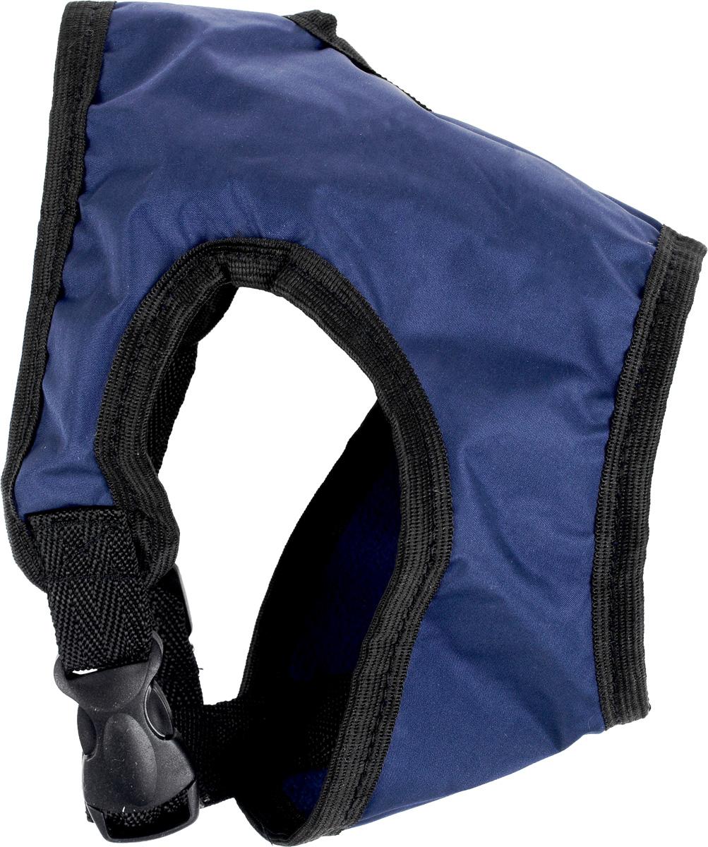 Шлейка для собак ЗооМарк, цвет: темно-синий, синий флис, черный. Размер: 1Ш-1_темно-синийШлейка для собак ЗооМарк выполнена из оксфорда, а на подкладке используется флис. Изделие оснащено специальным крючком, к которому вы с легкостью сможете прикрепить поводок. Шлейка имеет застежку фастекс и регулируется при помощи пряжки. Шлейка - это альтернатива ошейнику. Правильно подобранная шлейка не стесняет движения питомца, не натирает кожу, поэтому животное чувствует себя в ней уверенно и комфортно. Изделие отличается высоким качеством, удобством и универсальностью. Обхват груди: 22-25 см. Длина спинки: 14 см. Ширина ремней: 2 см.