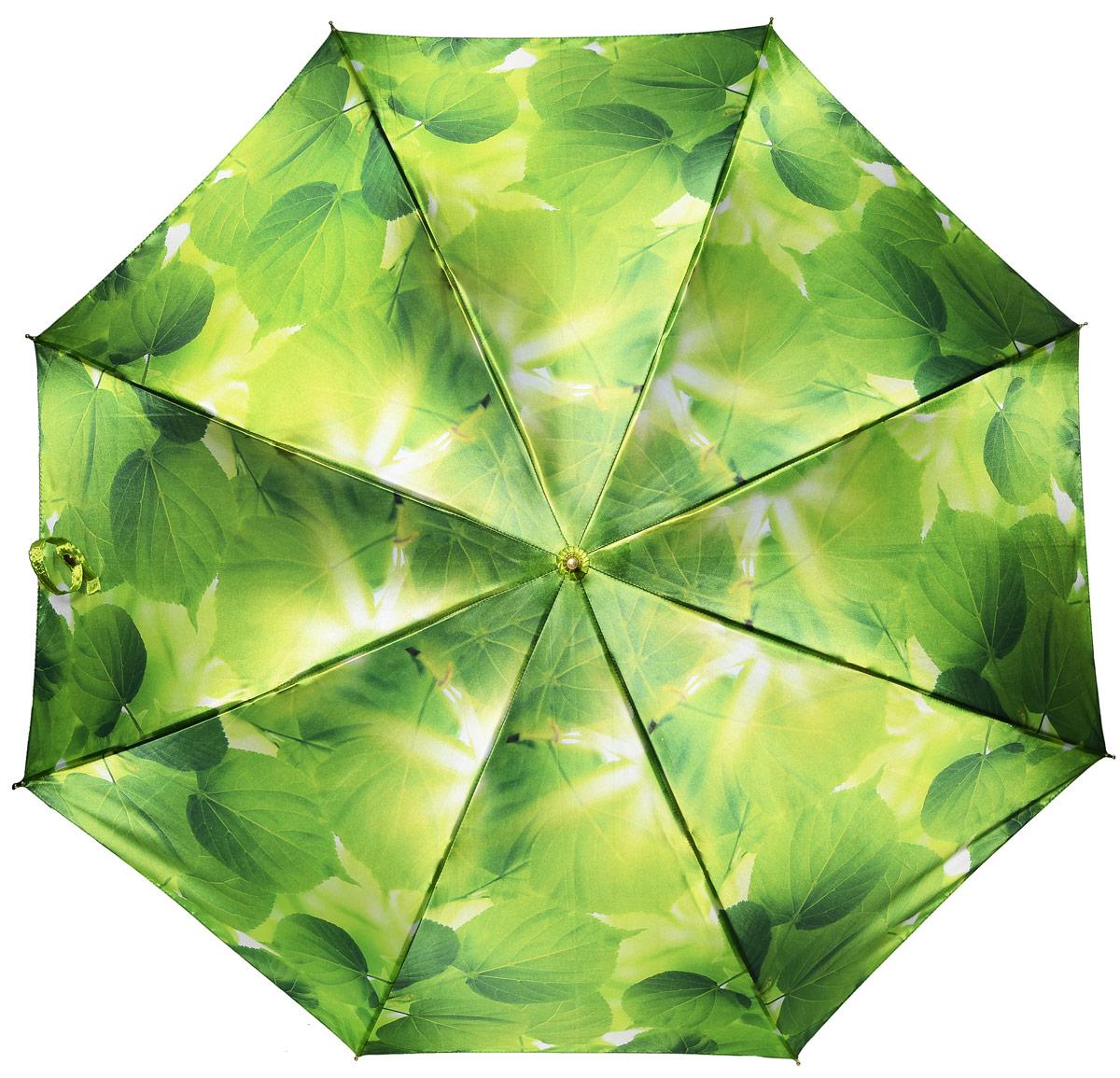 Зонт женский Henry Backer, цвет: зеленый. U11202 Summer leavesU11202 Summer leavesЖенский зонт-трость «Летние листья» с сатиновым куполом, зеленый, автомат Удивительно приятный зонт. Ветроустойчивый каркас выполнен из стали и фибергласса.