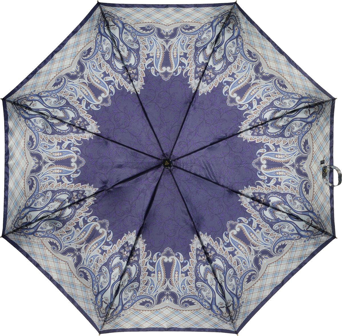 Зонт женский Fabretti, автомат, 3 сложения, цвет: мультиколор. L-16107-9L-16107-9Зонт женский Fabretti, облегченный суперавтомат, 3 сложения