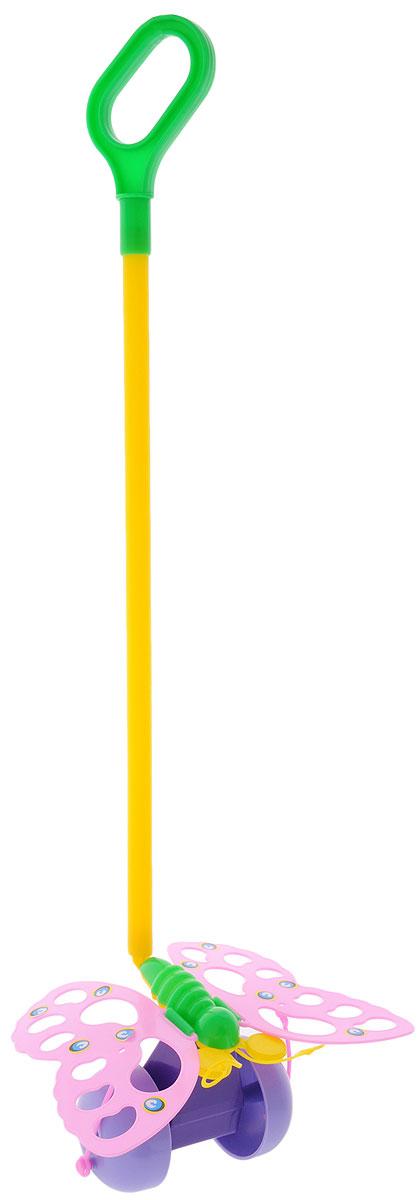 Спектр Игрушка-каталка Бабочка цвет розовыйУ514_розовыйКаталка с ручкой Спектр Бабочка предназначена для игрового развития малыша. Она станет отличным приспособлением для тренировки навыков координации и самостоятельного передвижения. Игрушка-каталка оснащена удобной длинной ручкой, которую легко удерживать в руке. Игрушка будет стимулировать ребенка ходить и бегать без помощи посторонних во время веселых игр на свежем воздухе. При движении каталки крылья бабочки приходят в движение. Изделие изготовлено из качественного экологичного пластика, безопасного для здоровья ребенка.