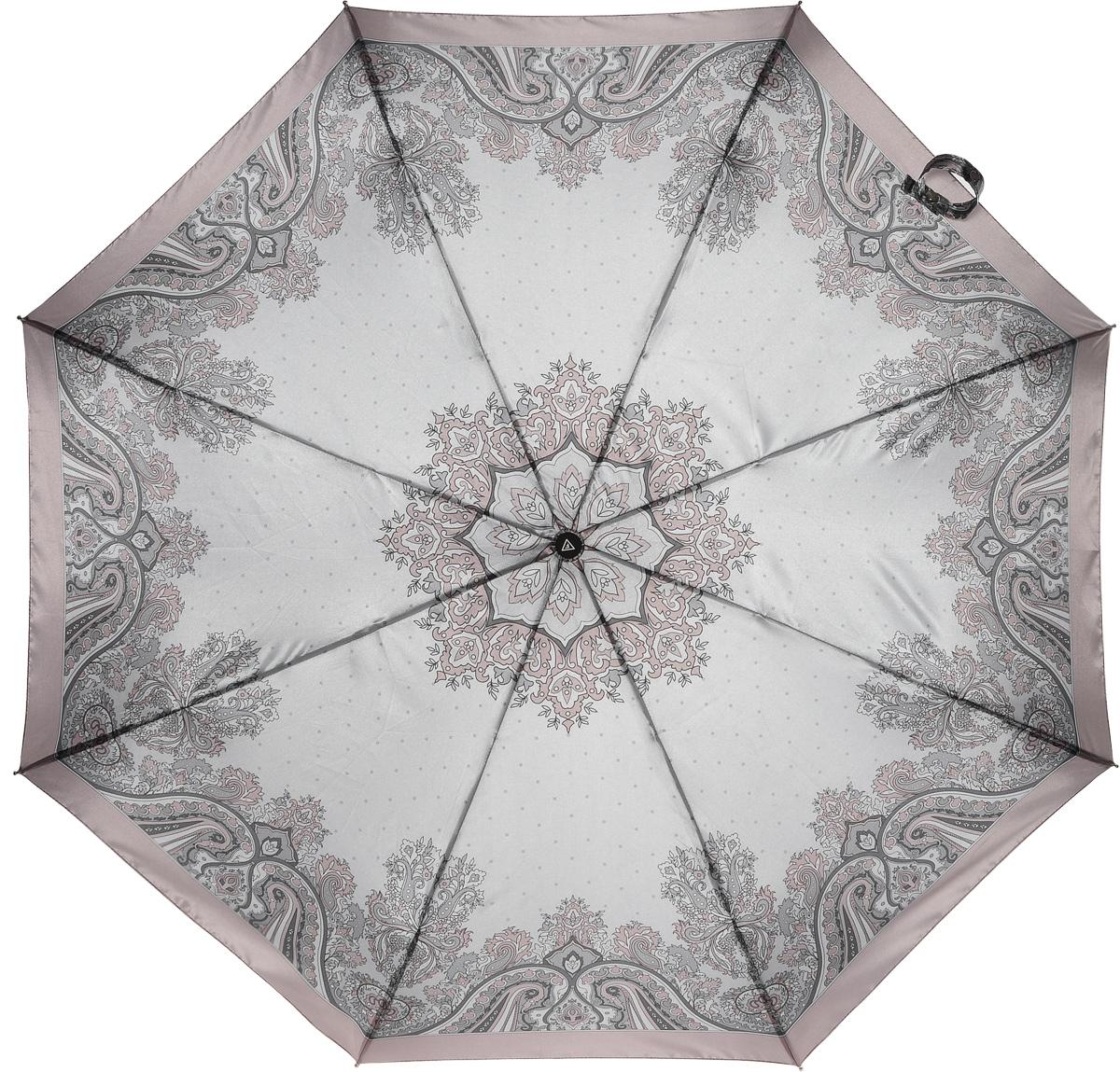 Зонт женский Fabretti, полный автомат, 3 сложения, цвет: мультиколор. S-16100-5S-16100-5Зонт женский Fabretti, суперавтомат, 3 сложения, сатин