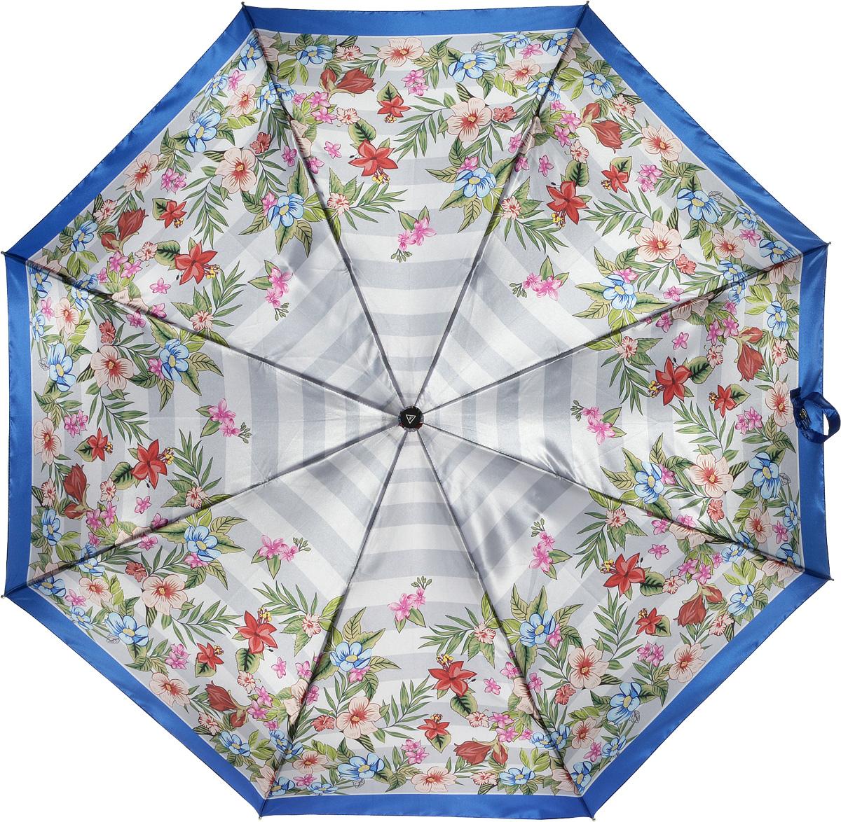 Зонт женский Fabretti, автомат, 3 сложения, цвет: мультиколор. L-16105-9L-16105-9Зонт женский Fabretti, облегченный суперавтомат, 3 сложения