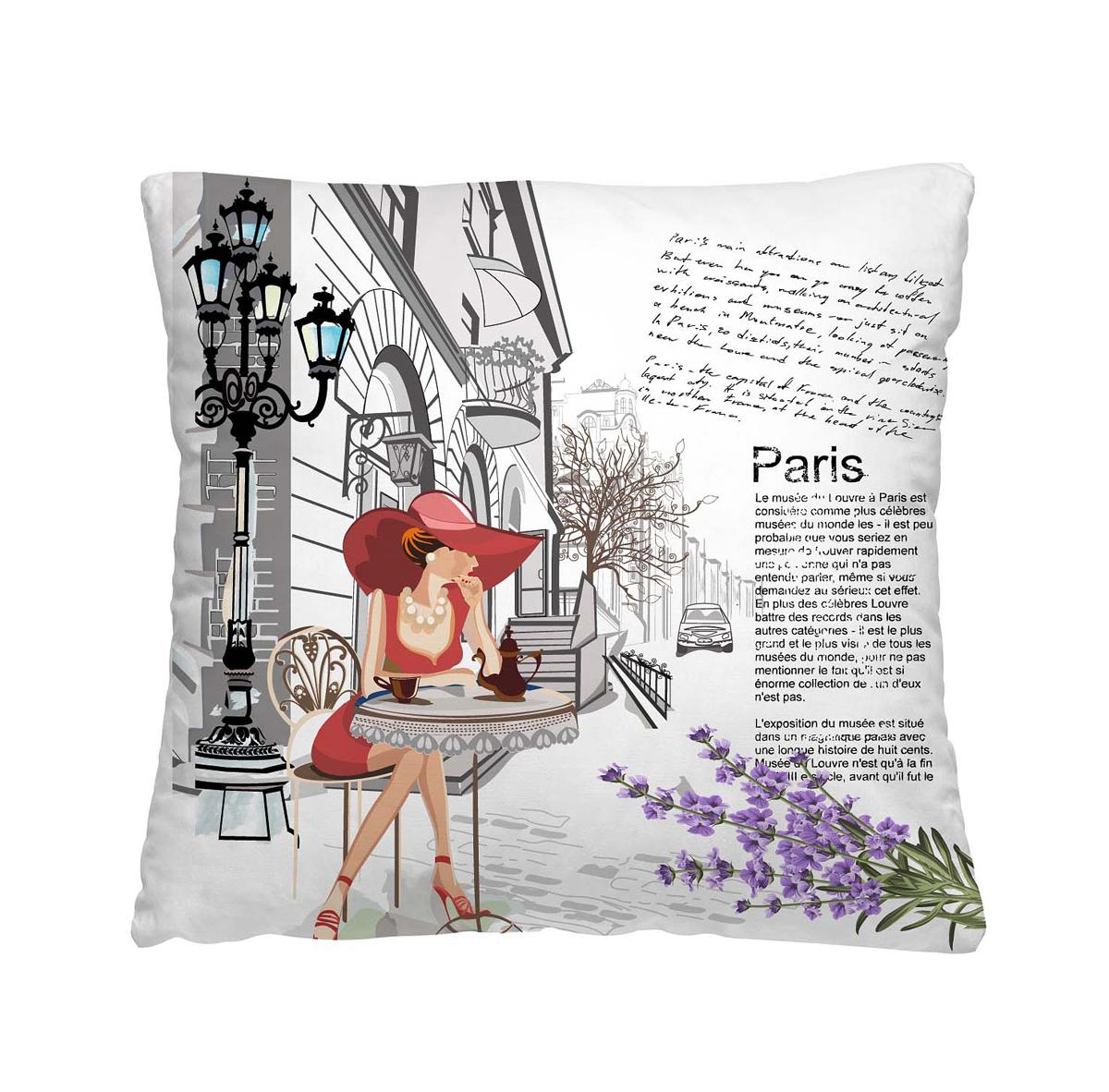 Подушка декоративная Волшебная ночь Кафе в Париже, 40х40 см195635