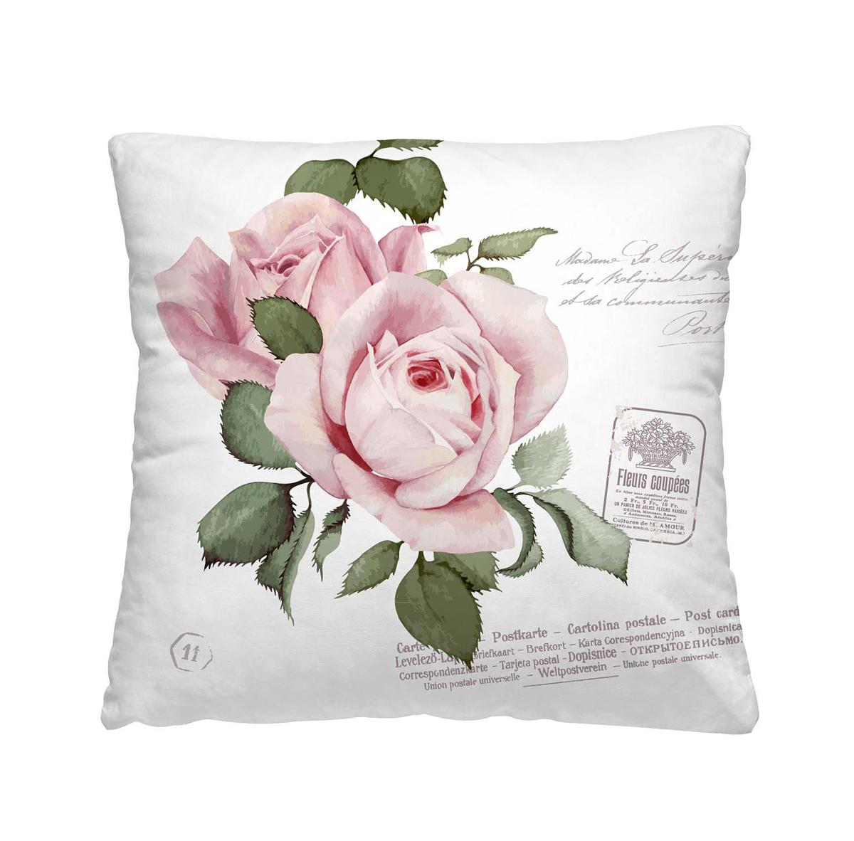 Подушка декоративная Волшебная ночь Розовый бутон, 40х40 см195