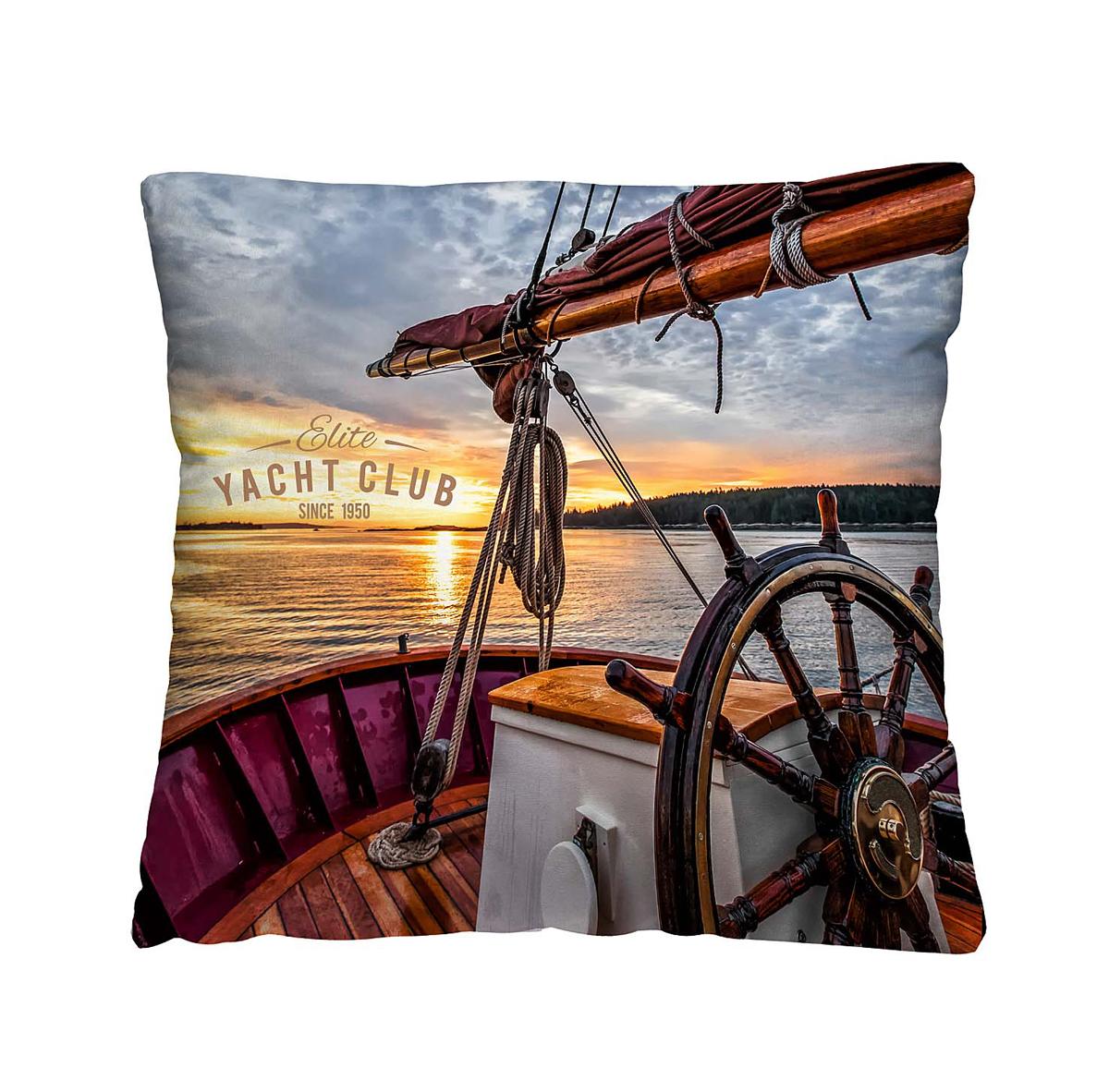 Подушка декоративная Волшебная ночь Яхта, 40х40 см197160