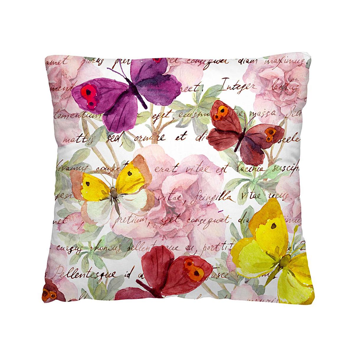 Подушка декоративная Волшебная ночь Пестрые бабочки, 40х40 см197167