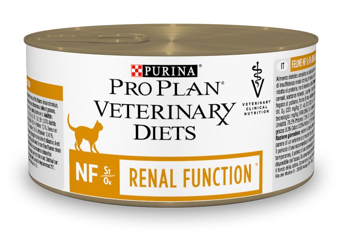 Консервы для кошек Pro Plan Veterinary Diets. NF, при патологии почек, 195 г12275867Purina Pro Plan Veterinary Diets NF Корм консервированный полнорационный диетический для взрослых кошек при патологии почек. Рекомендован для поддержания функции почек при хронической почечной недостаточности, с ограниченным уровнем высококачественного белка и фосфора. Рекомендуемая начальная продолжительность кормления: до 6 месяцев. Перед использованием и увеличением периода кормления сверх рекомендованного проконсультируйтесь с ветеринаром. При временной почечной недостаточности рекомендуемый период кормления - от 2 до 4 недель. Особенности: - ограничение фосфатов в корме помогает поддерживать функции почек в случае хронической почечной недостаточности, способствуют замедлению прогрессирования хронической почечной недостаточности, - ограниченное содержание высококачественного белка помогает минимизировать образование уремических токсинов, - высокие вкусовые качества помогают для поддержания аппетита и долгосрочного употребления, -...