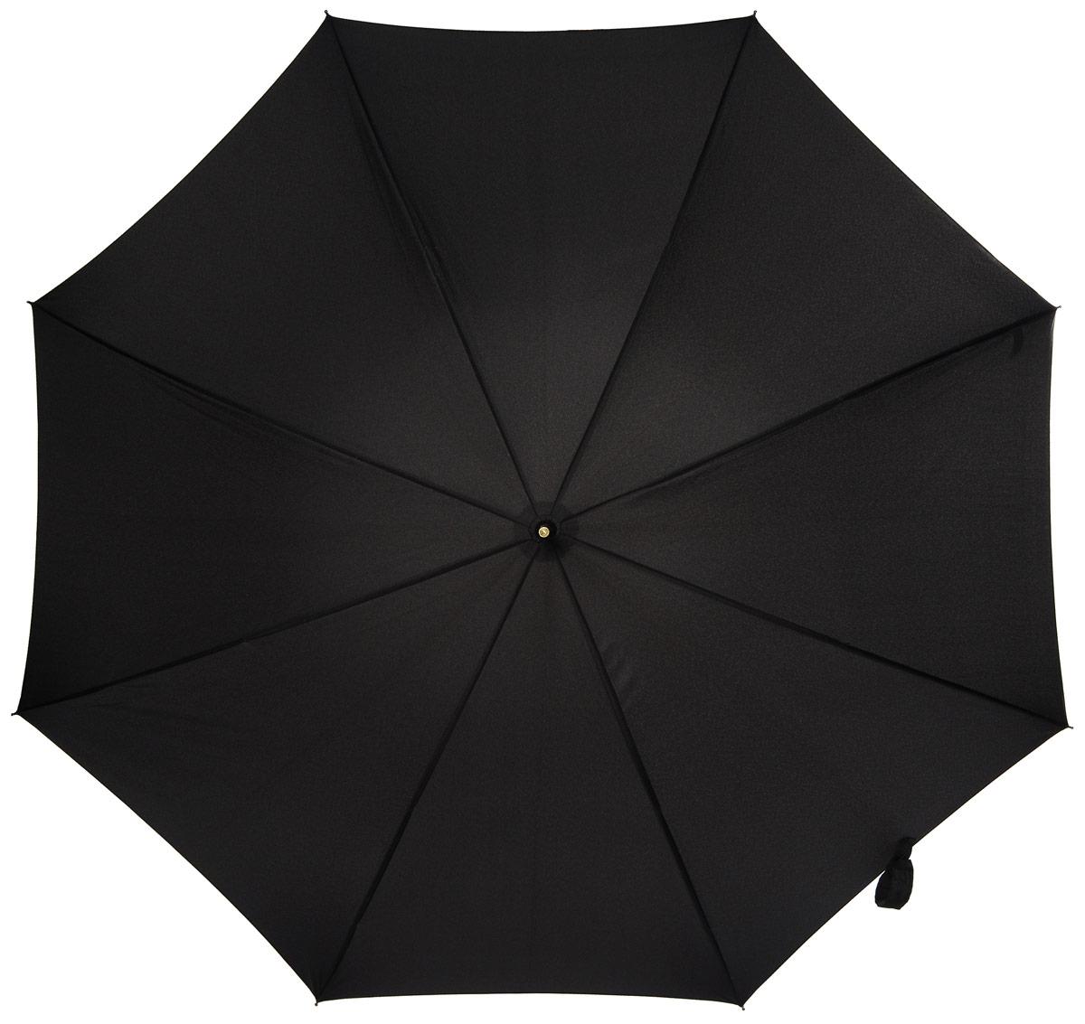 Зонт-трость мужской Fulton, механика, цвет: черный. G808-01G808-01 BlackКрепкий механический зонт-трость Fulton даже в ненастную погоду позволит вам оставаться стильным.Легкий, но в тоже время прочный и ветроустойчивый каркас из стали состоит из восьми спиц с износостойкими соединениями. Купол зонта выполнен из прочного полиэстера с водоотталкивающей пропиткой. Рукоятка закругленной формы, разработанная с учетом требований эргономики, выполнена из ротанга. Зонт механического сложения: купол открывается и закрывается вручную до характерного щелчка.