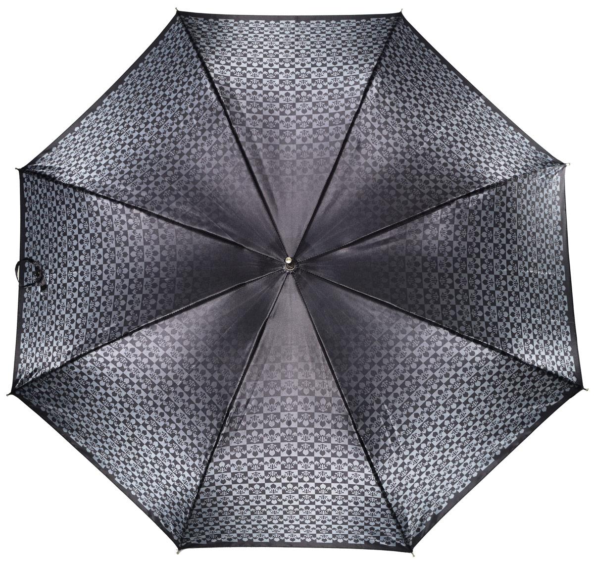 Зонт женский Henry Backer, цвет: серый. U11203 Black lilyU11203 Black lilyЖенский зонт-трость «Черная лилия» с сатиновым куполом, черный, автомат У рукояти изящная и удобная форма, ветроустойчивый каркас выполнен из стали и фибергласса.