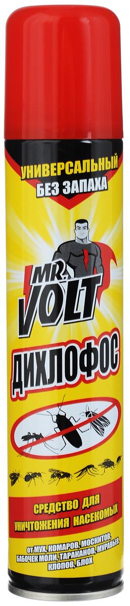 Средство инсектицидное Mr. Volt Дихлофос, без запаха, 200 мл48737Эффективное инсектицидное средство Mr. Volt Дихлофос предназначено для уничтожения летающих и ползающих насекомых: мух, комаров, москитов, бабочек моли, ос, тараканов, муравьев, клопов, блох. Состав: 0,1% тетраметрин, 0,2% циперметрин, 0,2% пиперонилбутоксид, менее 5% отдушка, более 30% растворитель, более 30% углеводородный пропеллент. Товар сертифицирован.