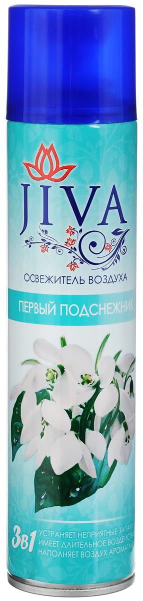 Освежитель воздуха Jiva Первый подснежник, 300 мл30839Освежитель воздуха Jiva Первый подснежник предназначен для устранения неприятных запахов в различных помещениях. Он обладает длительным действием, надолго наполняя ваш дом благоухающим ароматами. Состав: вода >30%, пропан/бутан/изобутан >30%, парфюмерная композиция Товар сертифицирован.