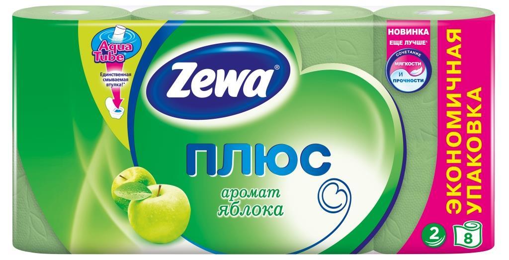 Zewa Туалетная бумага Плюс, с ароматом яблока, двухслойная, цвет: зеленый, 8 рулонов02.03.05.144006Ароматизированная туалетная бумага Zewa Плюс обладает приятным ароматом яблока. Двухслойные листы зеленого цвета имеют рисунок с тиснением. Бумага мягкая, нежная, но в тоже время прочная, не расслаивается и отрывается строго по линии перфорации. Характеристики: Материал: вторичное волокно. Цвет: зеленый. Количество рулонов: 8 шт. Количество листов в рулоне: 184. Количество слоев: 2. Размер листа: 9,5 см х 12,5 см. Размер упаковки: 39 см х 11,5 см х 19 см. Артикул: 02.03.05.144006. Производитель: Россия. Товар сертифицирован.