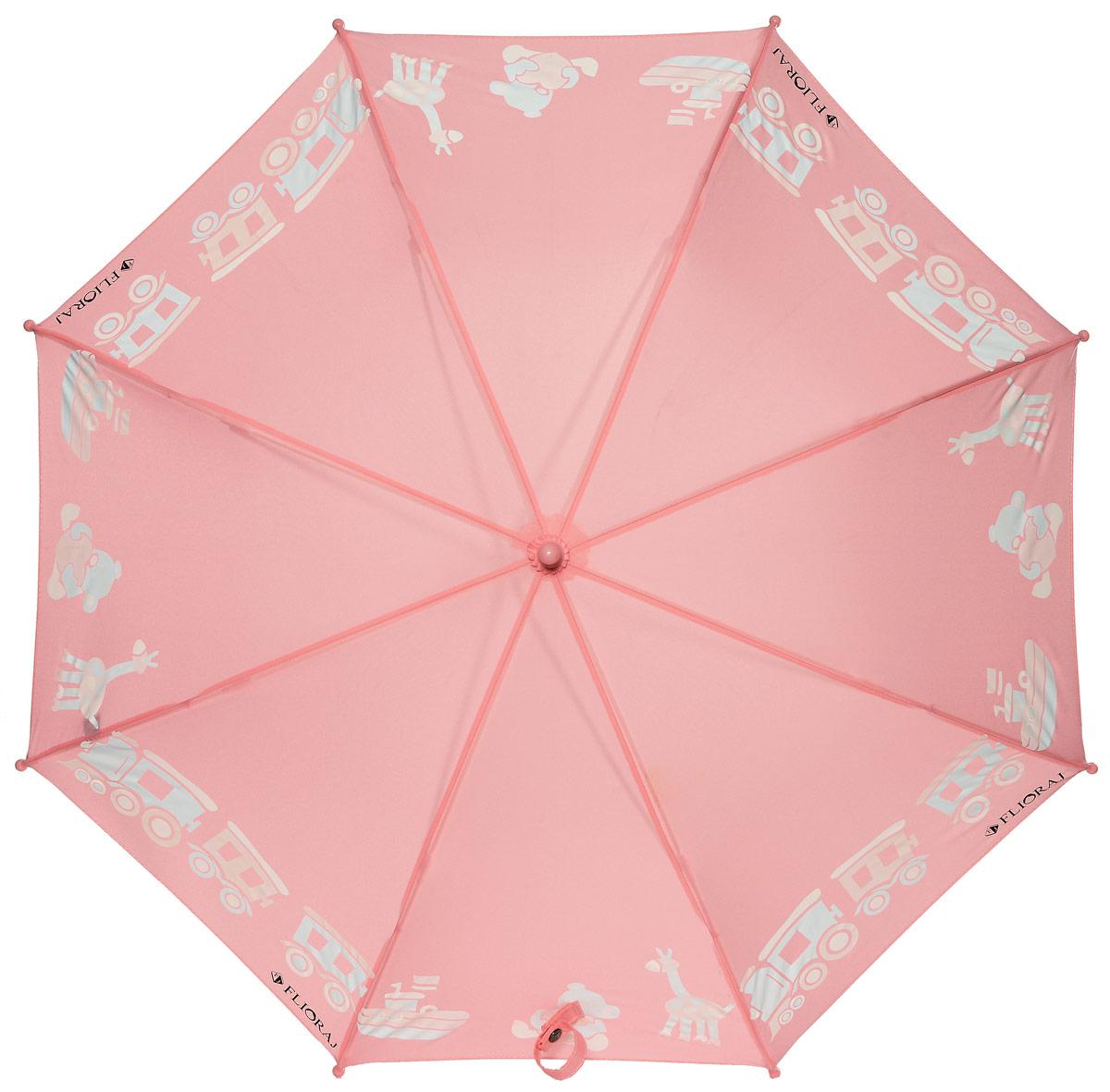 Зонт детский Flioraj 051212051212 FJМеханический, прочный детский зонт - надежная защита в непогоду. Яркие цвета поднимут настроение, а интересный эффект - проявление красок на рисунке - будет удивлять и радовать каждый раз! Предназначен для детей младшего и среднего школьного возраста. Для удобства предусмотрена безопасная технология открывания и закрывания зонта. Спицы зонта изготовлены из долговечного, но при этом легкого фибергласса, что делает его ветроустойчивым и прочным.