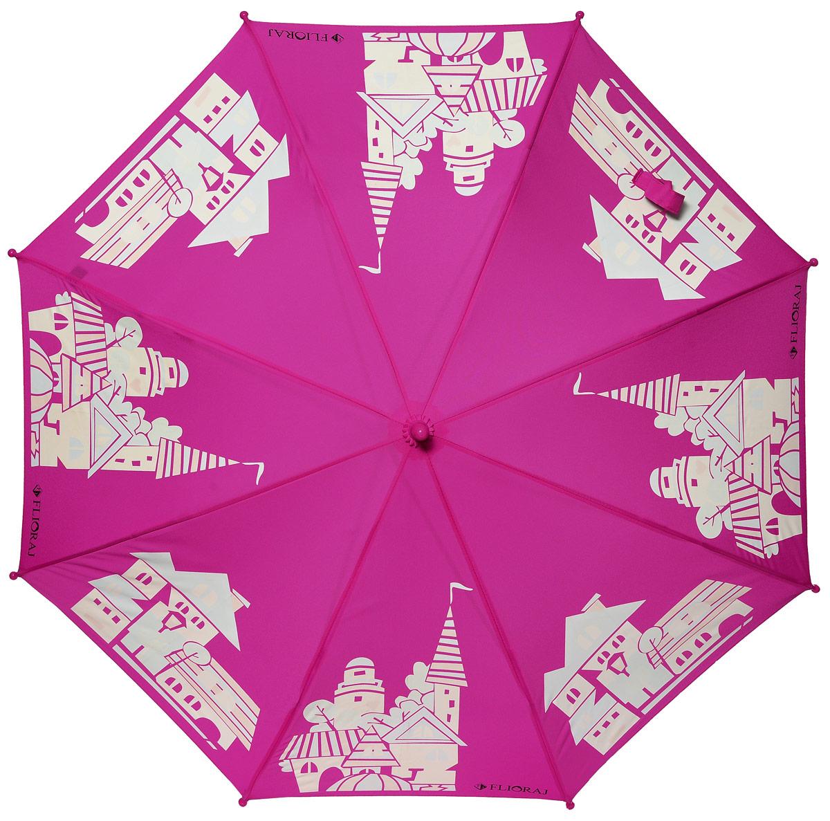 Зонт детский Flioraj 051205051205 FJСказочный зонт-раскраска! Дождь раскрасит безликие, белые здания в радужные, веселые домики. Под таким зонтом дождь - только в радость. Широкий выбор расцветок позволит найти подходящий вариант. Детский зонтик Flioraj с поверхностью реагирующей на воду, при намокании рисунок становится цветным, он обязательно понравится Вам и Вашему ребенку! Предназначен для детей младшего и среднего школьного возраста. Для удобства предусмотрена безопасная технология открывания и закрывания зонта. Спицы зонта изготовлены из долговечного, но при этом легкого фибергласса, что делает его ветроустойчивым и прочным.