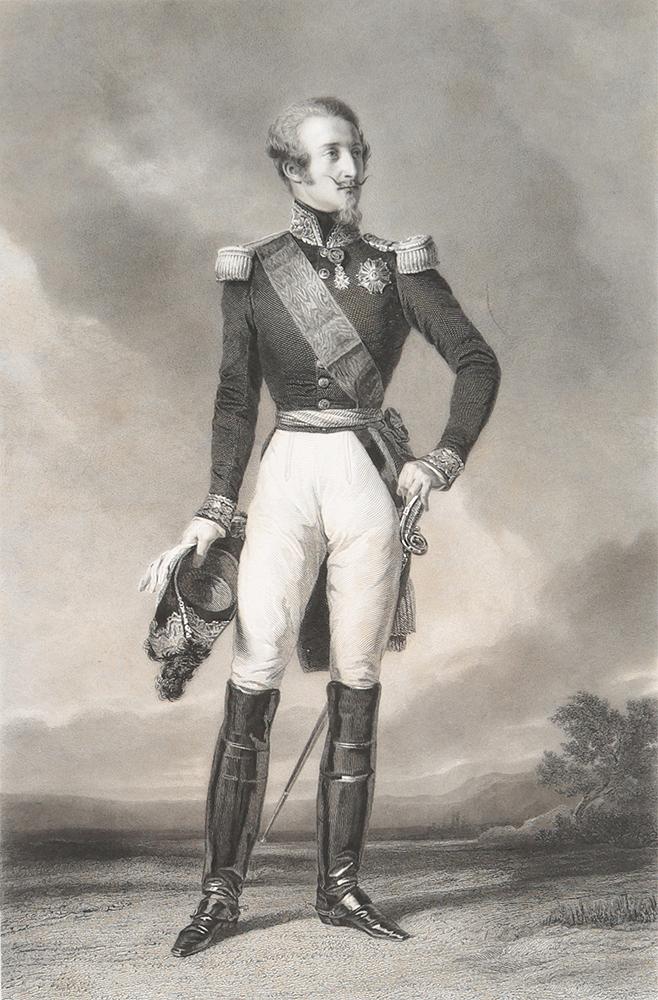 Портрет Луи Орлеанского, герцога Немурского. Гравюра. Франция, 1850-е гг.