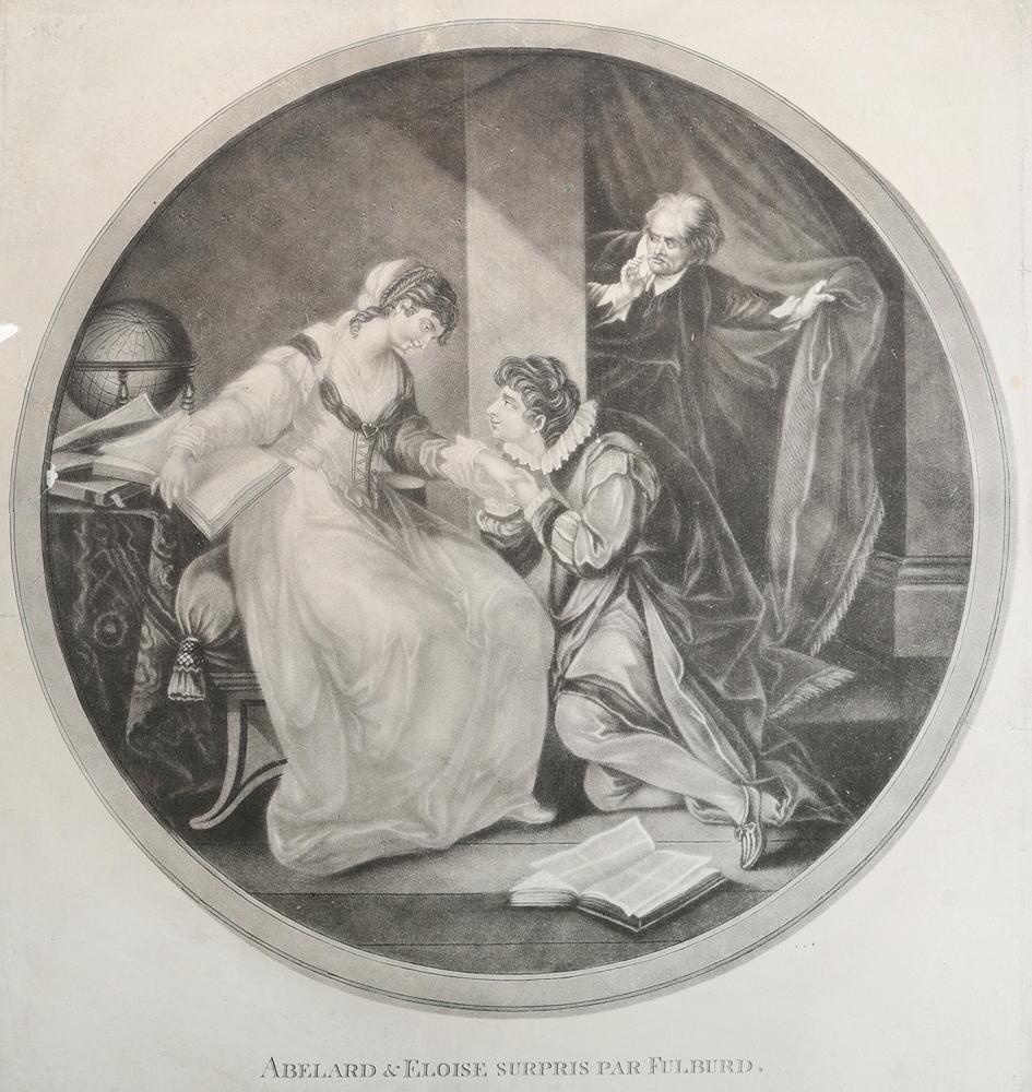 Абеляр и Элоиза. Гравюра, меццо-тинто. Западная Европа, 1750-е - 1760-е гг.НВА 170816-02Гравюра в технике меццо-тинто, 1750-е - 1760-е гг. Гравер - Johann Jakob Haid (1704-1767). Диаметр изображения 31 см. Гравюра наклеена на лист белой бумаги. Размер листа 33 х 37 см. Сохранность хорошая. Не подлежит вывозу за пределы Российской Федерации.